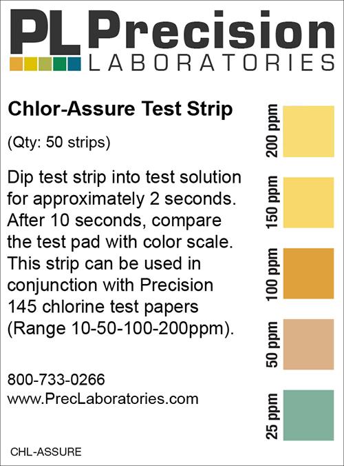Chlorine test strip