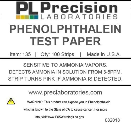 Phenolphthalein Test Paper