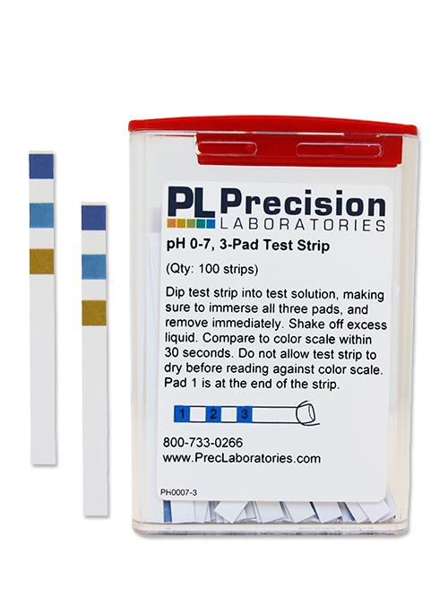 PH 0-7 Test Strips Pad