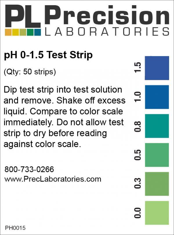 Plastic PH Test Strips