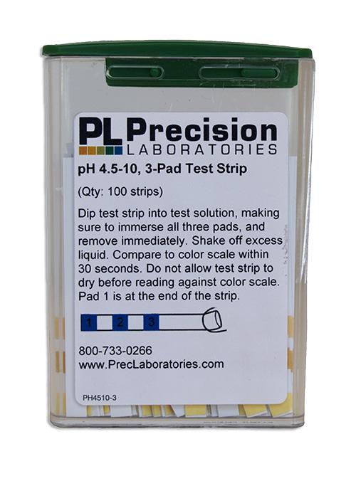 pH 4.5-10 Test Strip 3 pad
