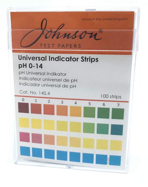 pH Indicator Non-Bleed Strips Consummate pH indicator strips